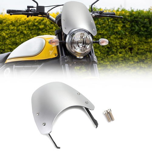 Windshield Windscreen Wind Defector protection For Ducati Scrambler 2015-2018 Silver