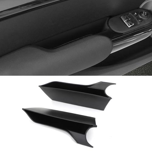 Interior Door Armrest Storage Box Organizer Holde Tirm For MINI Cooper F56 Black
