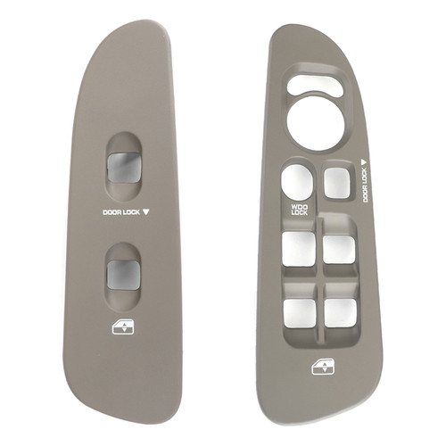 Front Window Switch Bezel Set Taupe 2Pcs Fit For Dodge Ram Kit 02-05