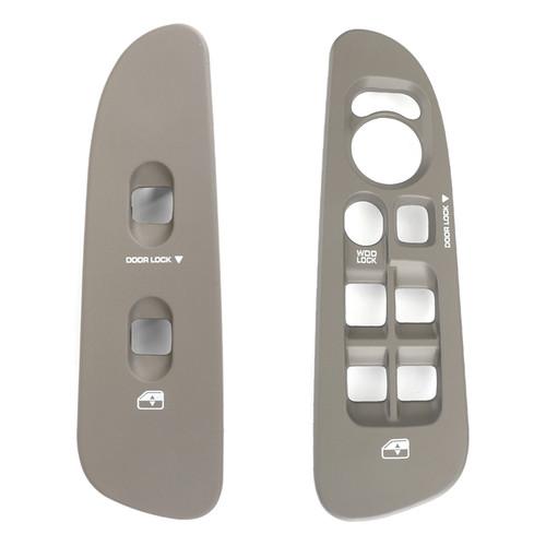 Front Window Switch Bezel Set Taupe 2Pcs Fit For Dodge Ram Kit 02-05