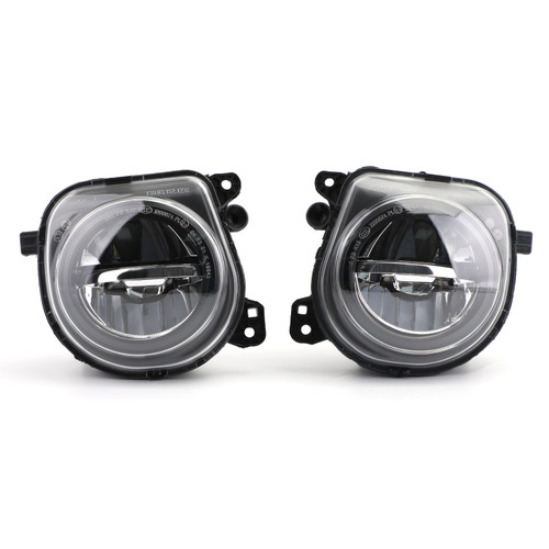 Pair LH+RH Front LED Fog Lights Lamps Foglights Fit For BMW 5 Series F10 F07 LCI CT 14-16 BLK