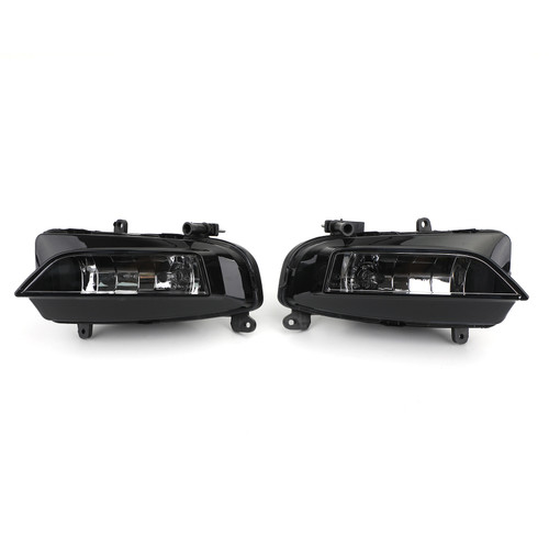 Pair Front Bumper Halogen Fog Light Lamp Fit For Audi S4 A4 S-Line 13-15 BLK