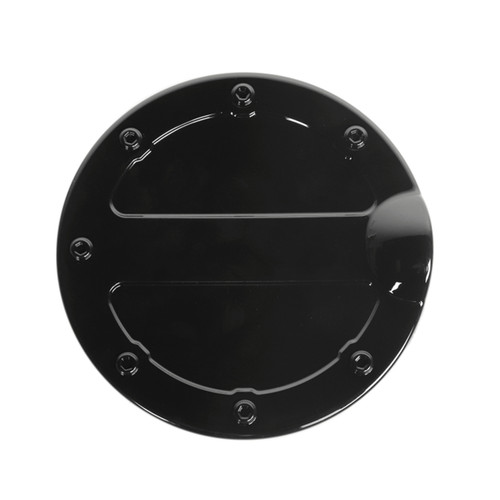 ABS Gas Door Cover Fuel Tank Oil Cap Cover Fit For Ford F-150 09-14 BLK