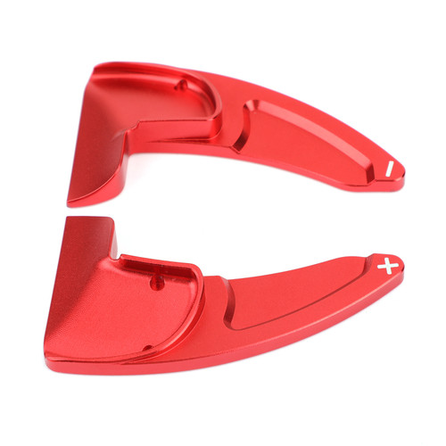 Pair Aluminum Steering Wheel Shift Paddle Extended Shifter Trim Fit For Charger 15-up Red