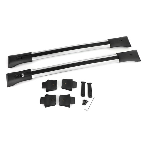Roof Rack Cross Rail Package Silver 84130842 Fit For GMC Acadia 2010-2017 Acadia Limited 2017