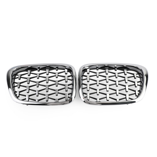 Meteor Front Kidney Grill Mesh Grille Fit For BMW E39 1995-2003 5 Series Chrome