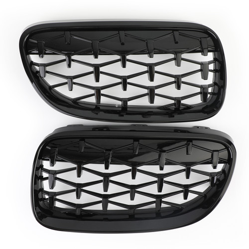 Meteor Front Kidney Grille Fit For BMW E92 E93 LCI 2 Doors 2011-2014 Black