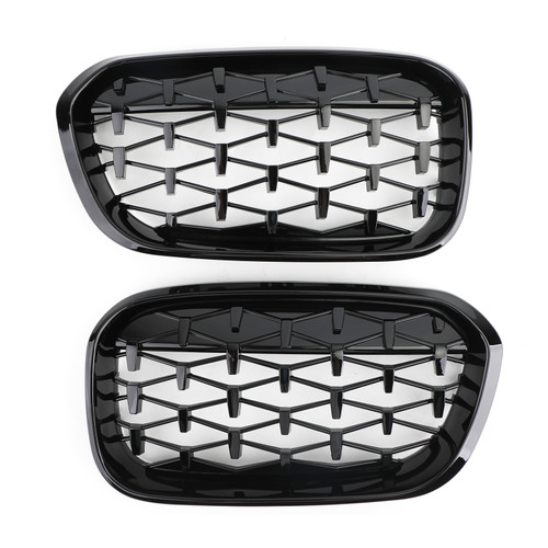 Meteor Front Kidney Grille For BMW 1 Series F20/F21 2015-2017 Black