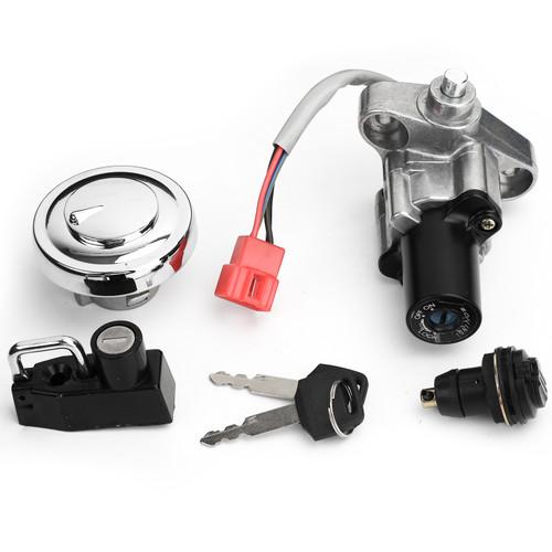 Ignition Switch Toolbox Fuel Gas Cap Seat Lock Set Keys For Yamaha XVS 125 250 400/C 650 1100 Drag Star / V-Star 98-17