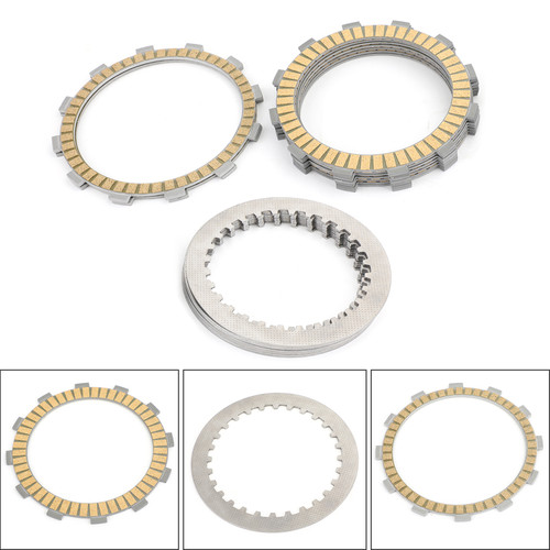 Clutch Plate Kit - Friction & Steel Plates For Triumph Daytona 955i 98-00 Speed Triple (EFI) 97-01 Sprint RS (Up to VIN 139276) 99-01 Sprint ST (Up to VIN 139276) 99-01 T595 Daytona 97 Tiger 900cc (From VIN 71699) 97-98