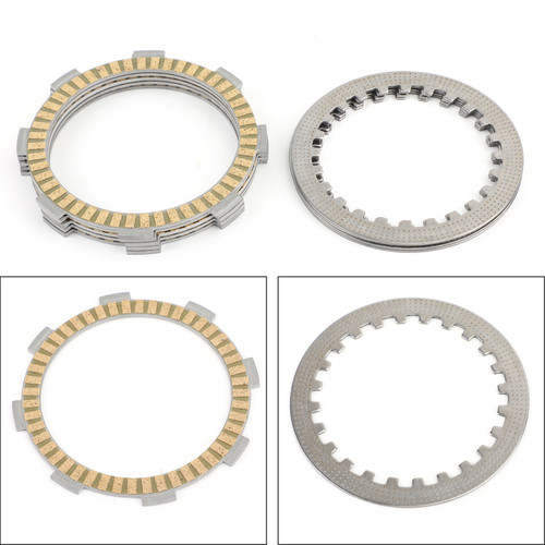 Clutch Plate Kit - Friction & Steel Plates For Honda CR80 CR85R CR85RB CB100 N CB125 CLR125 City Fly SL100 SL125 CL125
