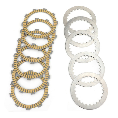Clutch Plate Kit - Friction & Steel Plates For Honda ATV TRX300 Sportrax 300 X CR125 RD/RE AX-1 NX250 J/K/R/R3 NX250 XR250R XR250L