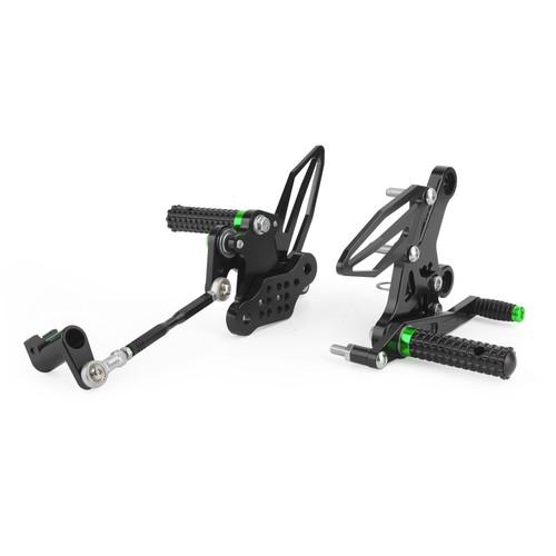 Adjustable CNC Rider Rear Set Rearsets Footrest Foot Rest Pegs For Kawasaki EX250P Ninja 250 EX400 Ninja 400 2018-2020 GRN