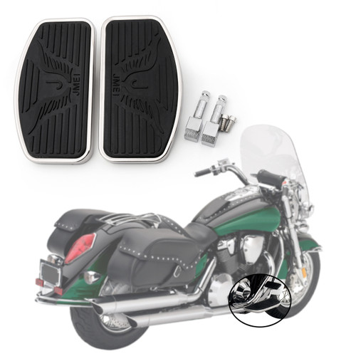 Front Floorboard Footboard For Suzuki Boulevard C50,Intruder Volusia 400 800, Black