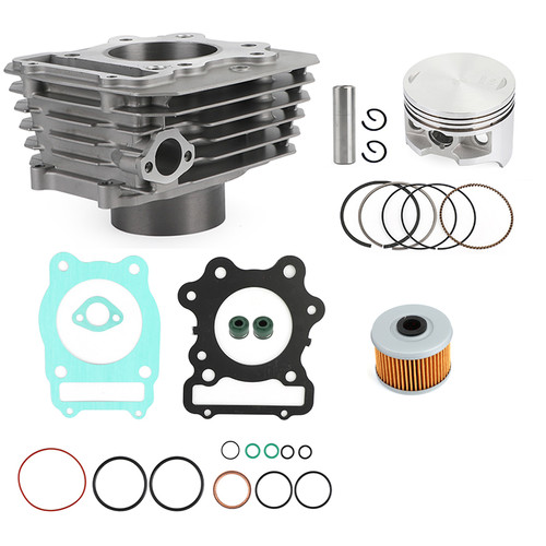 Cylinder Piston Ring Gasket Top End Rebuild Kit For Honda TRX 300 Fourtrax FW 4x4 2x4 1988-2000