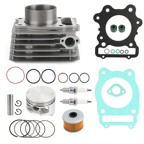 Cylinder Piston Ring Gasket Top End Rebuild Kit For Honda TRX 300 Fourtrax FW 4x4 2x4