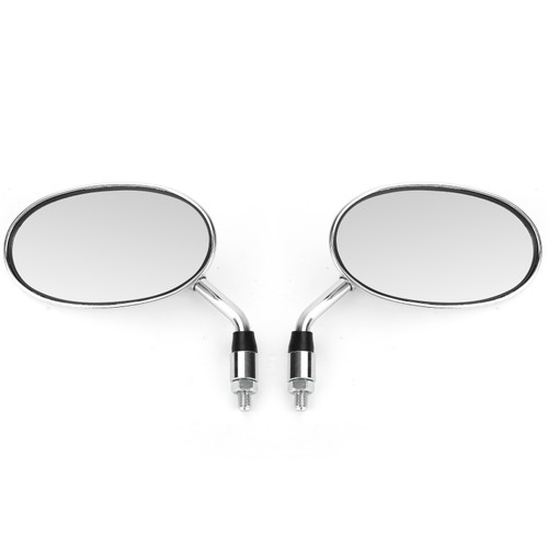 Motorcycle Rearview Side Mirrors Pair For Honda NV VF VT 400 600 750 1100 Shadow Magna CHR