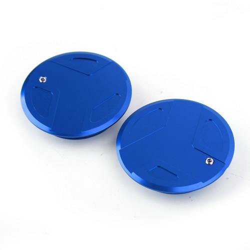 CNC Aluminum Frame Cover Cap Plug For BMW R1200GS R1200RT BLUE