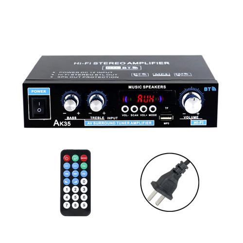 110V 12V 600W Bluetooth Power Amplifier Home Stereo 2CH AMP FM Radio SD USB