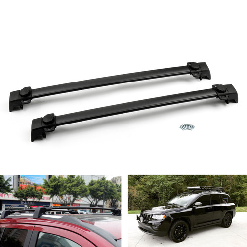 Roof Rack Cross Rails Rail Bars Luggage Carrier Fit For 2011-2016 Compass