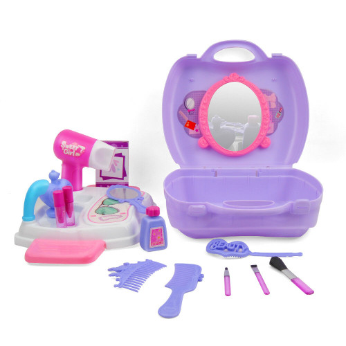 21Pcs Pretend Play Cosmetic Makeup Toy Set Kit for Little Girls Kids Beauty Toys