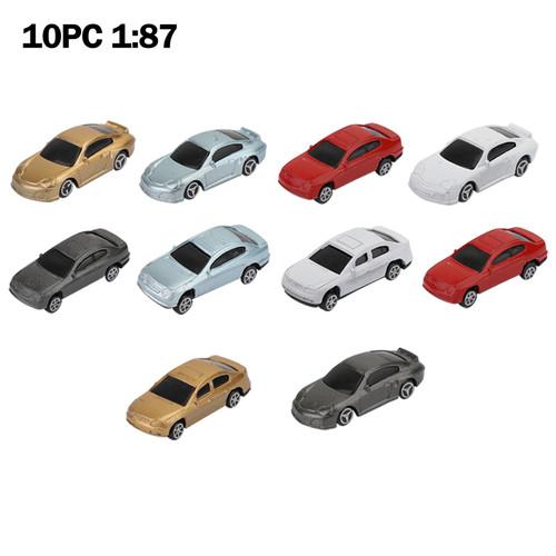 10pcs Model car 1:87 Building Train Scenery HO Scale