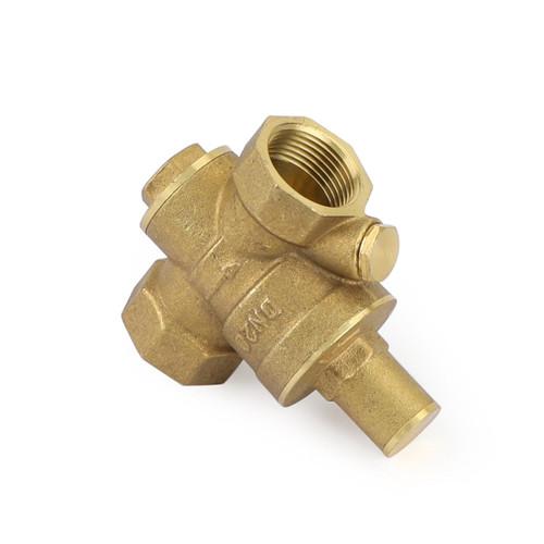 """DN20 3/4"""" Brass Adjustable Water Pressure Reducing Regulator Valves With Gauge"""