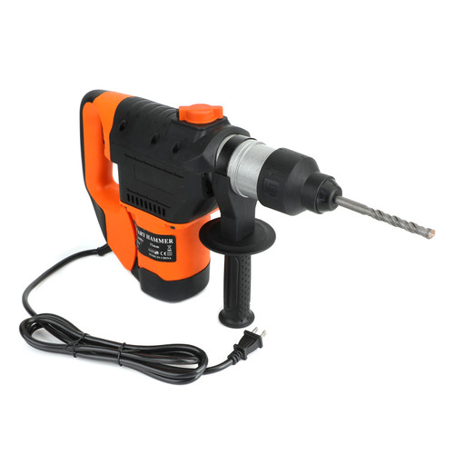 """1-1/2"""" SDS Electric Rotary Hammer Drill Plus Demolition Variable Speed w/Bits US"""