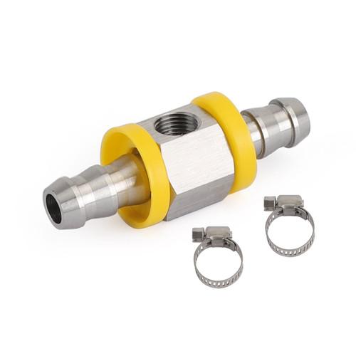 "Stainless Steel 3/8"" Fuel Line Fuel Pressure Gauge Sensor T-Fitting Adapter pro"