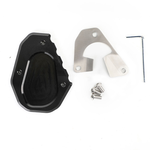 Kickstand Side Stand Extension Pad Fit For Triumph Tiger 900/Rally/Rally Pro 2020 (NOT FIT US version) BLK