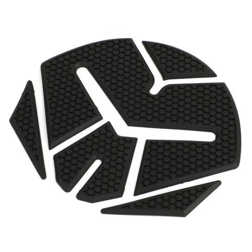 """3D Black """"Monkey Head"""" Rubber Gel Tank Pad Protector Sticker Motorcycle Motorbike"""