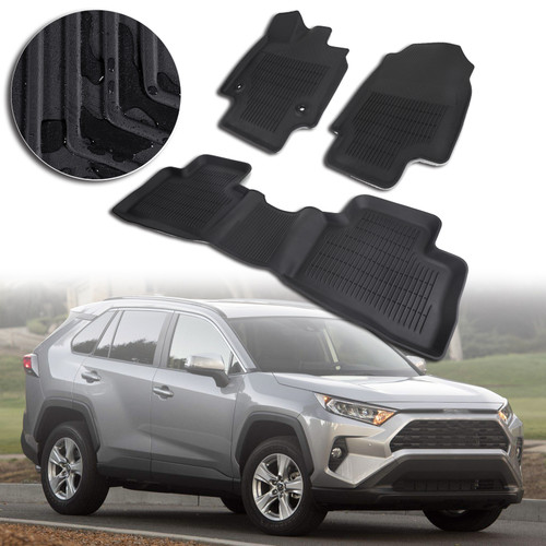 Black Floor Mats Liners Fit For Toyota RAV4 2019 2020 Adventure XLE ALL WEATHER
