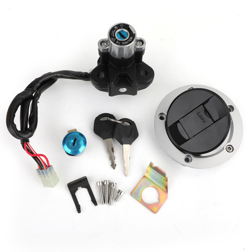 Ignition Switch Lock ; Fuel Gas Cap Key Set Fit for Suzuki GSXR600 750 SFV650 SV1000 DL650 DL1000 V-Storm
