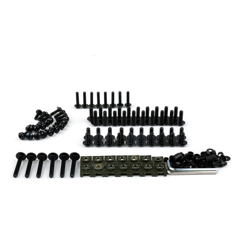 Fairing Bolt Kit Fasteners Nuts Screws Suzuki GSXR 600 750 1000 Black
