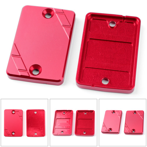 CNC Aluminum Front Brake Clutch Fluid Reservoir Cover Cap Fit For Yamaha XC 155 SMAX 155 2013-2020 BWS 125 2008-2014 Force 155 2017-2020 RED