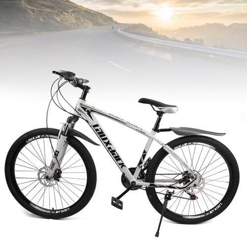 27.5 inches Wheels Adults Mountain Bike 21 Speed Bikes Bicycle MTB White&Black