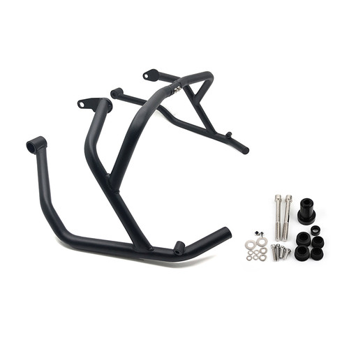 Front Upper Tank Crash Bars Side Engine Guard Bumper Fit For BMW F900 F 900 XR TE / F 900 R SE 2020-2021