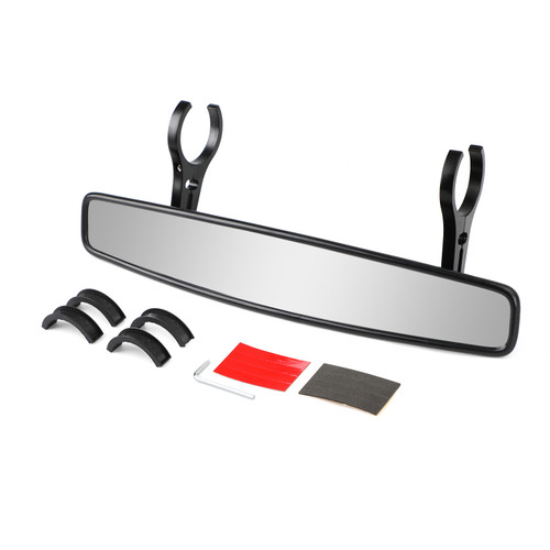 "UTV 15"" Rear View Mirror 2"" Roll Bar Fit For Can-am Maverick Commander 800 1000 X"