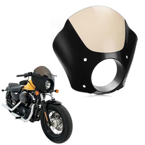 Windshield Windscreen Deep Cut Beveled Harley Dyna Sportster, FXDL Dyna Low Rider, 883L Super Low, Street XG 500