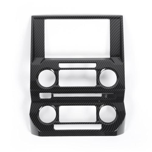 Carbon Fiber Console Navigation Frame Cover Trim For Ford F150 2015+