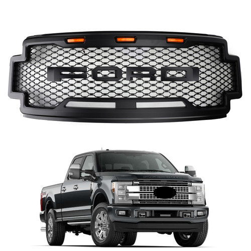 Raptor Style Grille Grill fit Ford F-250 F-350 F-450 2017-2019 Super Duty