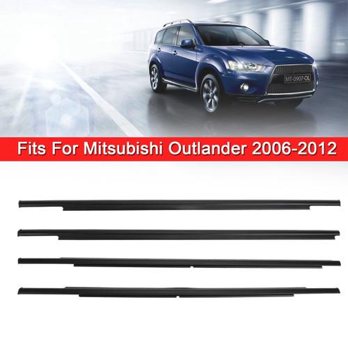 4x Car Outside Window Weatherstrip Seal Belt Moulding For Mitsubishi Outlander 06-2012