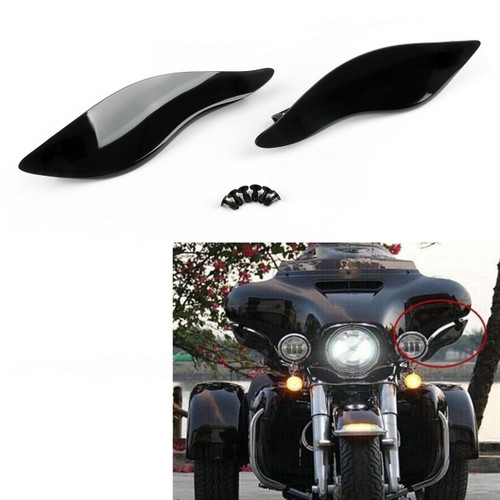 2 x ABS Plastic Side Wings Air Deflectors For Harley Street Electra Glide 14-17