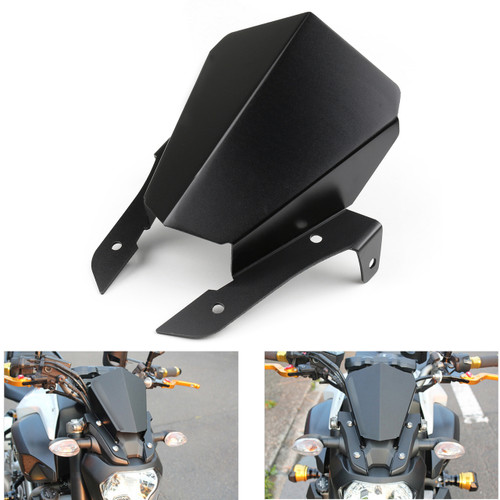 Upper Headlight Top Mount Cover Panel Fairing For Yamaha MT-07 FZ-07 2014-2016 Black