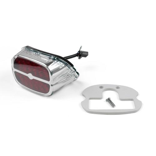 LED Tail Brake Light Bar & Shield Harley CVO Softail Convertible FLSTSE2/3, Springer FXSTSSE2/3, Dyna Fat Bob FXDF, Low Rider FXDL/EFI FXDLI, Chrome
