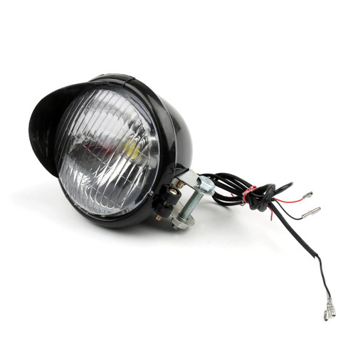 LED Angel Eye Headlight Harley Davidson Dyna Glide Black