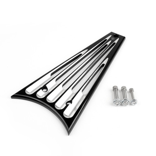 Radiator Cover Billet Aluminum Frame Grill Harley Touring Road King Street Glide Black