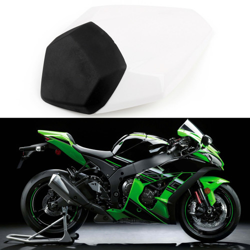 Rear Passenger Single Seat Cover Cowl For Kawasaki Nijia ZX10R ZX10-R 2016-2017  White
