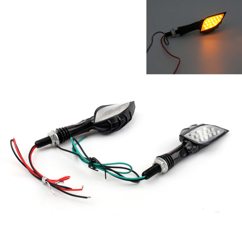 Skeleton Hand Arm LED Indicators Turn Signals Universal Fit Custom Chopper, Clear Lens
