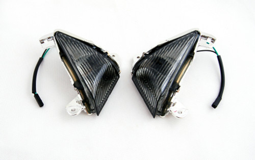 Front Turn Signals For Lens ZX 14R 10R 6R 636 Ninja 650F Smoke